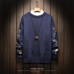 più i vestiti di natale di formato Sconti Natale da uomo maglioni invernali vestiti 2019 Plus Size asiatico M-4XL 5XL 6XL Giappone stile casual standard Pullover Designer