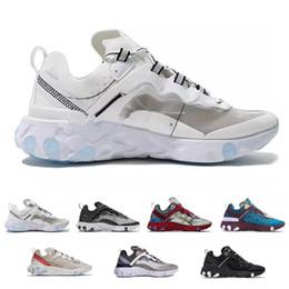 2019 bonne marque de chaussures de sport Designer React Element 87 UNDERCOVER Marque OG Ultra Chaussures de Course pour Hommes Sport bon Sneakers Femmes De Luxe Casual Trainers promotion bonne marque de chaussures de sport