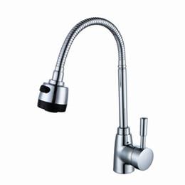 Água fria torneira cromada on-line-360 graus liga de zinco torneira torneira torneira moderna fria / água quente poupança de água durável anti-corrosão cozinha suprimentos