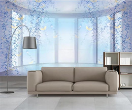 woods country decor Promo Codes - Custom Size 3D Photo Wallpaper Living Room Mural Purple Dream Branches 3d Picture Sofa TV Backdrop Home Decor Creative Hotel Study Wallpape