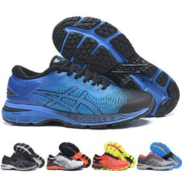 scarpe da uomo designer online Sconti Novità Asics GEL-KAYANO 25 Original Uomo Donna Sport Scarpe da corsa economici Online Blu Nero Athletics Designer Sneakers 36-45
