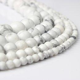 remendos de animais bordados por atacado Desconto LanLi 4/6/8/10/12 milímetros pedras Moda Natural White turquesas Rodada solta pérolas adequados para DIY feminino pulseira colar de jóias