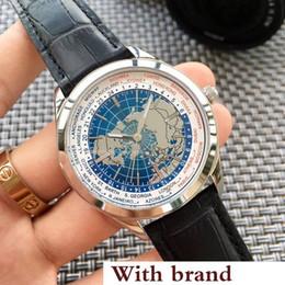 Relógios de pulso on-line-Relógio quente Geophysic Assista Terra 8108420 Aço Inoxidável Automático Esporte Mecânico Mens Relógios De Pulso Dos Homens Relógios