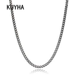 2020 joyería de plata de los hombres Collar colgante de plata de moda de la vendimia 5 mm ancho retro cadena choker collar para los hombres declaración de amistad regalos joyería joyería de plata de los hombres baratos