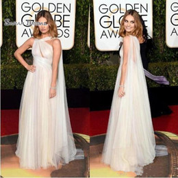 pink lily pictures Coupons - Golden Globe Award Lily James Celebrity Dresses One Shoulder Keyhole Neck A-line Floor Length Tulle Formal Prom evening Gowns