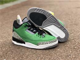 Mela gialla online-2019 Ultimi 3 ammortizzatori Apple Green Yellow Strike Black Sneakers New Fashion III Oregon Allenatori sportivi personalizzati con scatola originale