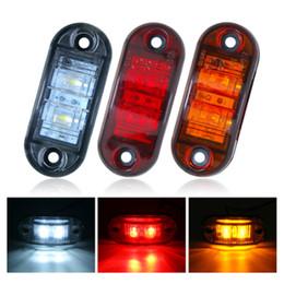 12v llevó luces traseras del remolque online-12 V 24 V 2 LED Luz lateral de la luz de marcador del coche Luz de señal de bombilla de freno para camión remolque Camión de autobús Luz indicadora de giro Luz indicadora