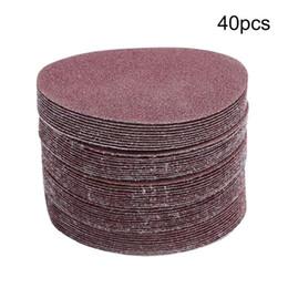Canada 40PCS 5 pouces 125mm Ponçage ronde Disque Poncer Disque de polissage Feuilles de sable 60-180 Grit pour le nettoyage de polissage outil Offre