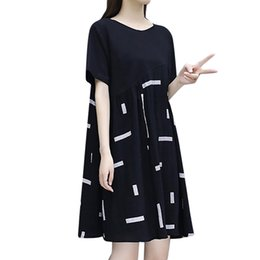bürokleid knie ärmel Rabatt Feitong Mode Frauen Kleid 2019 Office Lady Sexy knielangen Kurzarm Spleißen runden Kragen Kleid Plus Size