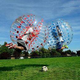 Sfere del respingente del corpo gonfiabile online-Gonfiabile Safty Protezione ambientale 0.8mm PVC 1.5m Air Bumper Ball Body Zorb Ball Bubble pallone da calcio giocattoli cinetici per bambini adulti