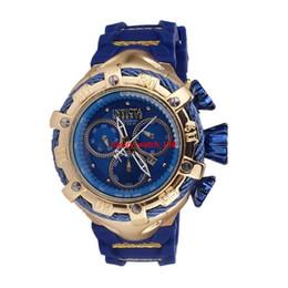 Подарочные автомобили онлайн-INVICTA Luxury Gold Часы Мужчины Спорт кварцевые часы хронограф Авто дата резинкой наручные часы для мужской дар