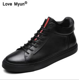 2019 marcas de calçado para homens Sapatos de Couro genuíno Dos Homens Marca de Calçado Não-slip Grosso Sola Moda Masculina Sapatos Casuais Masculinos de Alta Qualidade Mocassins Loafershjm89 desconto marcas de calçado para homens