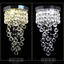 Diametro del soffitto online-New Modern Led Piccolo lampadario di cristallo di illuminazione Lampada da soffitto a Cucina Bagno armadio camera da letto lampada decorativa diametro di 20cm