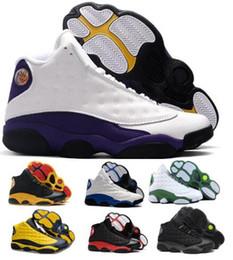 scarpe da pallacanestro Sconti Lakers 13 13s pattini di pallacanestro delle scarpe da tennis 2019 Nuova Melo oliva Bred Flint Atmosfera cappello e abito Chicago Mens Scarpe da ginnastica Scarpe Basket Ball