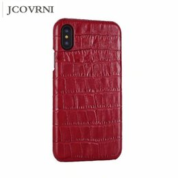 Jcovrni Роскошный тисненый крокодиловый кожаный кожаный чемодан для Iphone 7 8plus X Xr Xsmax Cover 5.5