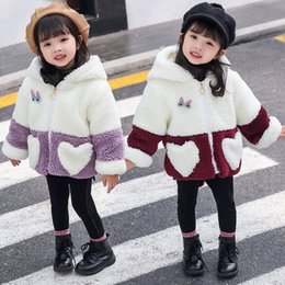 d75262b0fb1 Toddler Baby Cute Winter Coat Spring Fall Patchwork Animal Designer Children  Faux Shearling Jacket Hooded Cardigan Overcoats cute girls fall jackets for  ...