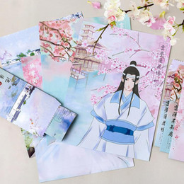 dao Promo Codes - 9 Pcs Set 3 Envelopes+6 Sheets Letter Paper Anime Mo Dao Zu Shi Series Envelope Fans Gift Stationery