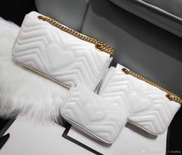 cuero de onda Rebajas Diseñador de lujo clásico bolso de cuero de alta calidad de las mujeres bolsa de mensajero de la moda amor V ola bolsa de hombro