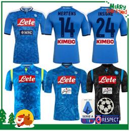 Argentina 2019 2020 Serie A Naples Napoli camisetas de fútbol de casa Napoli camisetas de fútbol azul Camiseta para hombre 19 20 HAMSIK L.INSIGNE PLAYER Camiseta cheap blue soccer jersey xl Suministro