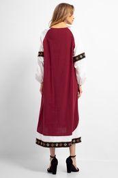 7c457a97f5 Casual Embroidery Abaya Full Length Maxi Dress Vintage Muslim Long Robe  Gowns Kimono Ramadan Middle East Ethnic Islamic Clothing