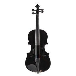 2019 partes de violino usadas 1/8 Tamanho Gloss Natural Acústica Violino violino com caso Bow Rosin Instrumento Musical Preto Azul Rosa 2019 New Dropshipping