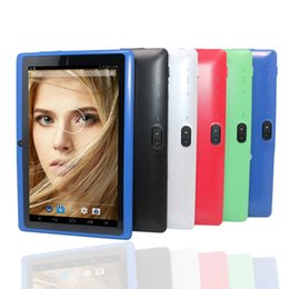 планшеты allwinner Скидка Flash Q88 Cheapest kids tablet pc 7 inch Android 4.4 Allwinner A33 Quad core