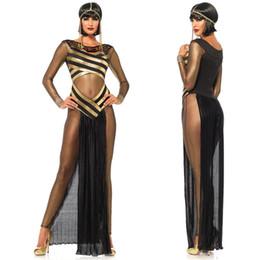 egito sexy Desconto Senhoras Sexy Erótico Cleópatra Traje Deusa Grega Egipto Rainha Tema Exótico Festa Fetiche Clubwear Fancy Dress