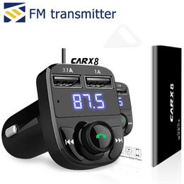 2019 plug chargeur mural cube Transmetteur FM Aux Modulateur Sans Fil Bluetooth Mains Libres De Voiture Kit Audio De Voiture TF Carte Port 3.1A Charge Rapide Double USB Chargeur De Voiture
