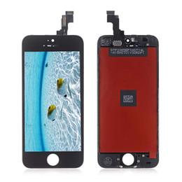 iphone 5s digitizer ersatzgroßverkauf Rabatt Großhandels-LCD-Anzeigen-Touch Screen Digitizer-Vollversammlung für iPhone 5S-Telefon-Ersatz-Ersatzteile geben Verschiffen frei
