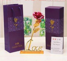 2019 piante artificiali cinesi Rose d'oro 24K Rose dorate Fioretto Simulazione Bouquet Festa della mamma Festa regalo Regali piccoli doni