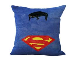 almofadas de superman Desconto Vingadores Herói Capitão América Batman Superman Spiderman Homem De Ferro Mulher Maravilha Fronha Capa de Almofada Linho Throw Fronhas 240381