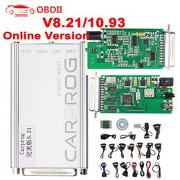 Programmeur adaptateur obd2 en Ligne-Outil de réglage de puce Carprog V8.21 V10.93 ECU complet 21 adaptateurs testeur de programmeur de voiture pour airbag / radio / réparation IMMO / OBD2