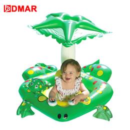 2019 juguetes de barco para niños Flotador de ranas inflable DMAR con dosel para niños Bebé Barco Anillo de natación Lifebuoy Playa Mar Colchoneta de agua Juguetes para fiestas rebajas juguetes de barco para niños