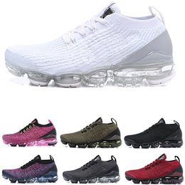 official photos 9a37a 157b7 Fly line 2019 nike vapormax flyknit air max Hommes Chaussures De Course  flair Cushion triple noir blanc Femmes chaussette Sports Jogging Chaussures  BE TRUE ...