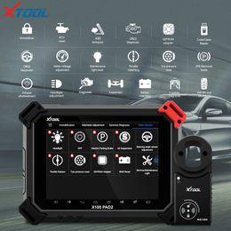 ids de ford vcm2 vcm ii Rebajas Herramienta de diagnóstico OBD2 X100 PAD2 con 4to y 5to programador automático de llaves Immo Todas las funciones especiales para la mayoría de los modelos de automóviles