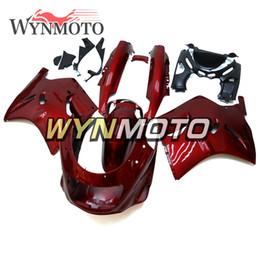 Argentina Kit de carenado completo rojo oscuro para Kawasaki ZZR1100D ZX11 1993 - 2003 Ninja ZX-11 94 95 96 97 98 99 01 02 03 Carrocería de motocicleta de plástico ABS NUEVO supplier kawasaki zx11 Suministro