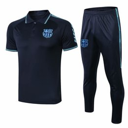 Windjacke polo online-top 2019 MESSI Kurzarm-Trainingsanzug für Polo-Fußball 19/20 COUTINHO SUAREZ O.DEMBELE PIQUE Trainingsanzug für Fußball-Trikots