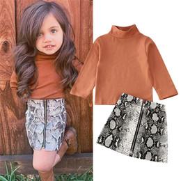 оптовый бутик мальчика Скидка 2020 девушки малыша одежды весна осень Детская одежда высокого качества с длинным рукавом юбки Детская одежда Для девочек костюм