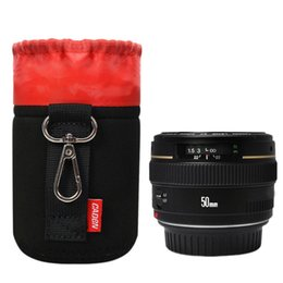 waterproofing camera pouch Coupons - DSLR SLR Camera Lens Protective Bag Waterproof Shockproof Storage Pouch Black Red Case