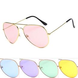 2019 lentilles de lunettes bon marché Lunettes de soleil de concepteur de lunettes de soleil de pilote en métal de cadre bon marché pour des femmes et des hommes or et argent de couleurs de monture de cadre en gros promotion lentilles de lunettes bon marché