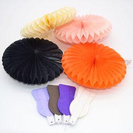 Mestieri di vacanza diy online-Sfogo Party Party Holiday Decorazioni fai da te 1Pcs 15cm Carta velina Fiore Balls Lanterns Pinwheel Hanging Flower DIY Paper Craft Pompom Ball ...