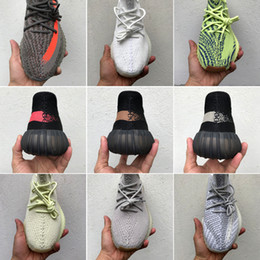 Con caja 2019 Nuevo Static Sesany Kanye West Butter Beluga 2.0 Blue Tint Cream Zebra Bred Hombres Mujeres Zapatos para correr Deporte desde fabricantes