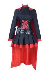 2019 trajes de rubíes RWBY Ruby Rose Cosplay Disfraz Halloween Mujer Vestido trajes de rubíes baratos