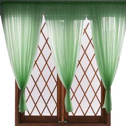 Varas de cortina de bolso on-line-Voile Cortina Da Janela Extra Longa Sheer Drape Painel de Cor Sólida Rod Cortina de Bolso para Sala de estar