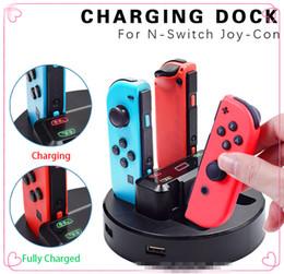 2019 Nintendo için Yeni ürün anahtarı joy-con için dört arabirim şarj anahtarı kolu şarj için gösterge ışığı ile 2 USB portu ile nereden üçgen ayak tedarikçiler