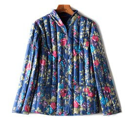 feder-stil kleider Rabatt New Style mittleren Alters die Kleider der Frauen Herbst und Winter Baumwolle gefütterte Jacke Frauen mittleren Alters Kleid Daune Liner Cotton