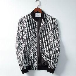 Marcas de chaqueta italiana online-chaqueta cazadora marca de moda de la medusa estampado de serpiente de los hombres casuales de la chaqueta RR 19SS italiano de manga larga chaqueta con capucha M-3XL