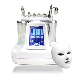 Maquina para limpieza facial online-7 en 1 bio rf hammer hidro microdermoabrasión 5 en 1 hidra hidabrasa 6 en 1 spa facial máquina de limpieza de poros de piel