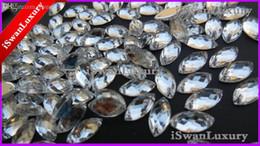 Pietre per accessori porcellana online-All'ingrosso-Cina A +++ Navette Marquise 6x12mm Argento Pietre Cristalli Strass Cucire su accessori Flatback Cucire su Pietre Cristalli Perline