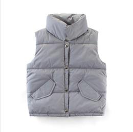 Argentina Chaqueta de diseño informal para niños, chaqueta de primavera y otoño, cuello alto sin mangas, chaqueta de un solo pecho de color liso para niños y niñas Suministro